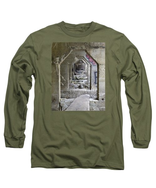 Long Sleeve T-Shirt featuring the photograph Dam Above Garwin Falls, Wilton, Nh by Betty Denise