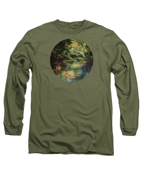 Dance Of Color And Light Long Sleeve T-Shirt by Mary Wolf