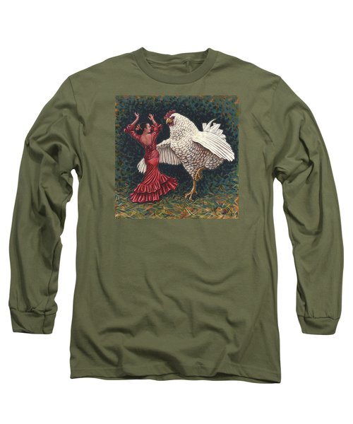 Dancers El Gallo Long Sleeve T-Shirt by Holly Wood
