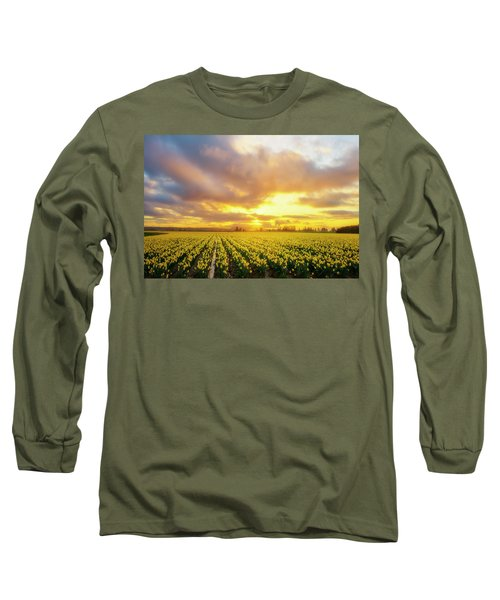 Dances With The Daffodils Long Sleeve T-Shirt by Ryan Manuel