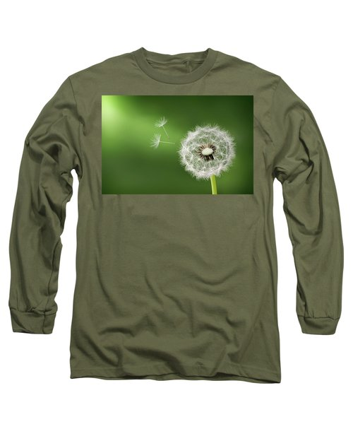 Long Sleeve T-Shirt featuring the photograph Dandelion by Bess Hamiti