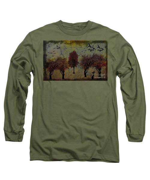 Dark Autumn Night Long Sleeve T-Shirt