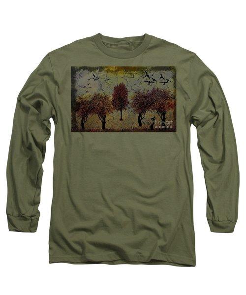 Dark Autumn Night Long Sleeve T-Shirt