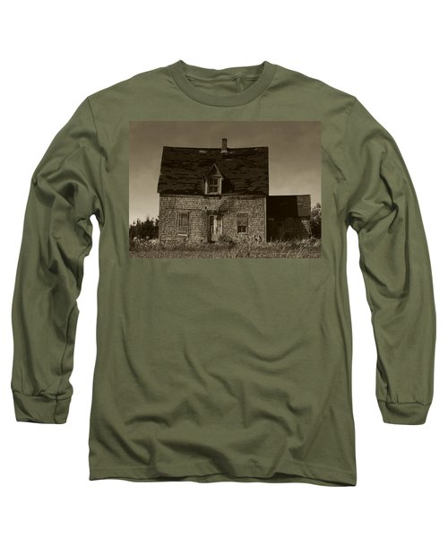Long Sleeve T-Shirt featuring the photograph Dark Day On Lonely Street by RC DeWinter