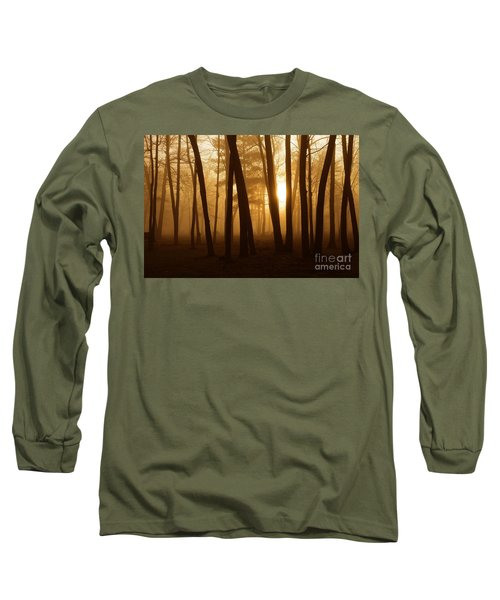 Dark Forest Long Sleeve T-Shirt by Terri Gostola