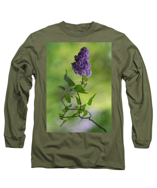 Long Sleeve T-Shirt featuring the photograph Dark Violet Lilac by Jaroslaw Blaminsky