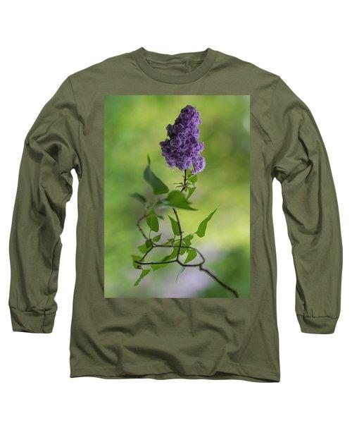 Dark Violet Lilac Long Sleeve T-Shirt