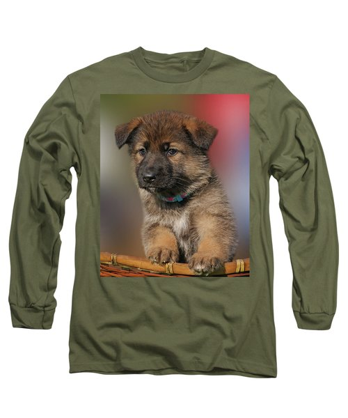 Long Sleeve T-Shirt featuring the photograph Darling Puppy by Sandy Keeton