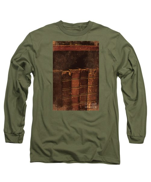 Long Sleeve T-Shirt featuring the photograph Dated Textbooks by Jorgo Photography - Wall Art Gallery