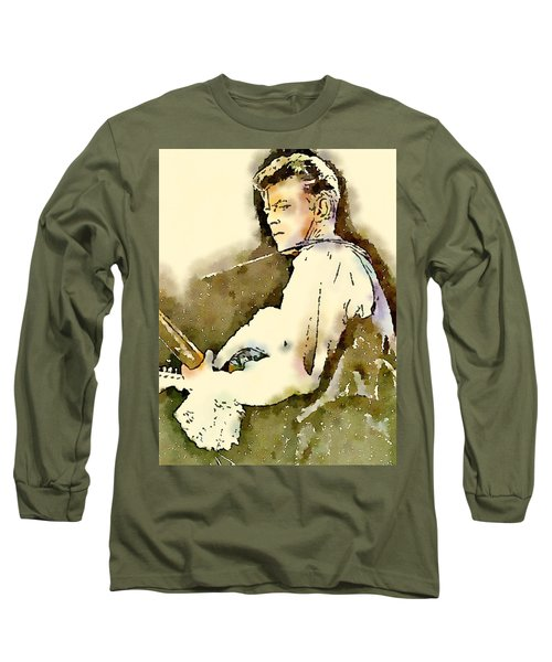 David Bowie By John Springfield Long Sleeve T-Shirt