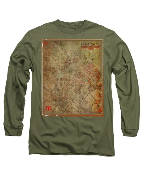 Davidson College Map Long Sleeve T-Shirt