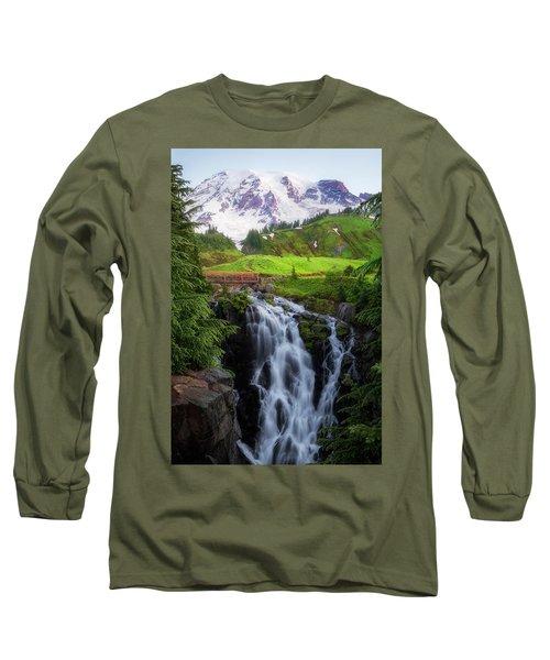 Dawn At Myrtle Falls Long Sleeve T-Shirt