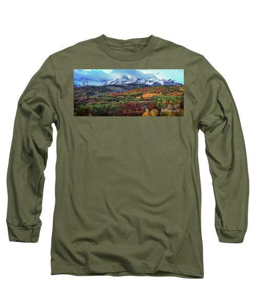 Dawn At The Dallas Divide Panoramic Long Sleeve T-Shirt