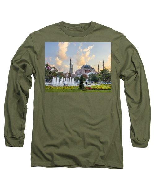 Dawn Hagia Sophia Istanbul Long Sleeve T-Shirt