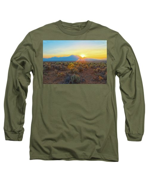 Dawn Over Magic Taos Mountain Long Sleeve T-Shirt