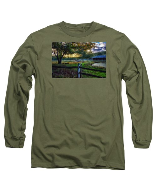 Day Is Nearly Done Long Sleeve T-Shirt by Tricia Marchlik