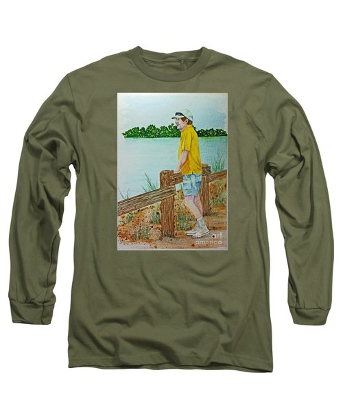 Long Sleeve T-Shirt featuring the painting Daydreaming by Terri Mills