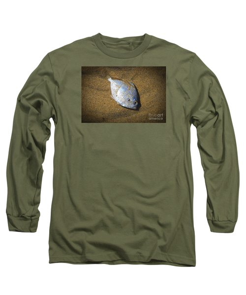 Dead Fish On The Beach Long Sleeve T-Shirt by Perry Van Munster