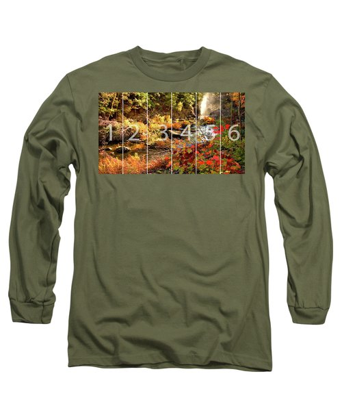 Dead River Falls Marquette Michigan Panoramic Map Long Sleeve T-Shirt by Michael Bessler