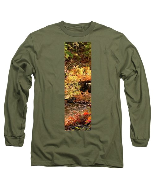 3 Of 6 Dead River Falls  Marquette Michigan Section Long Sleeve T-Shirt