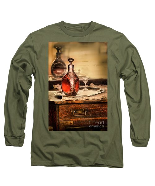 Long Sleeve T-Shirt featuring the photograph Decanter And Glass by Jill Battaglia