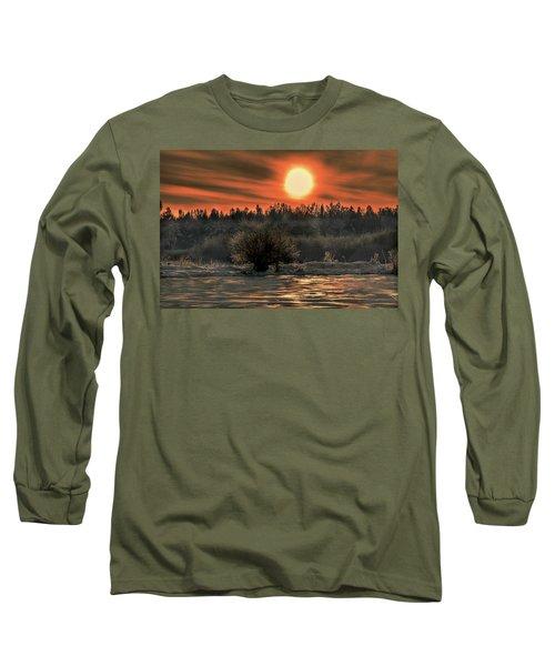 December Sun #f3 Long Sleeve T-Shirt by Leif Sohlman