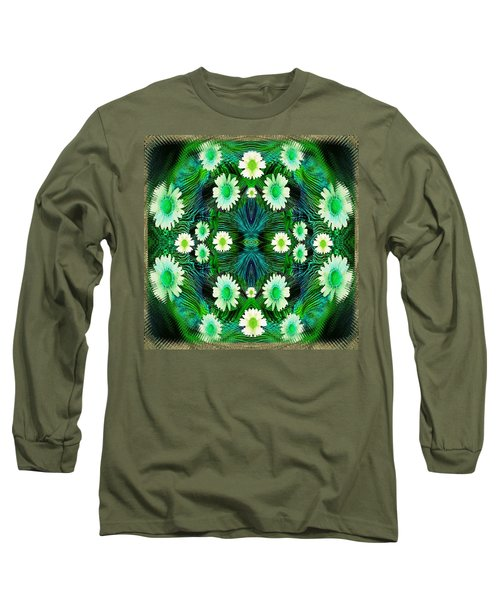 Decorative Abstract Meadow Long Sleeve T-Shirt