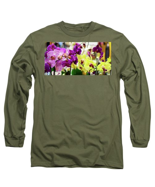 Decorative Orchids Still Life B82418 Long Sleeve T-Shirt