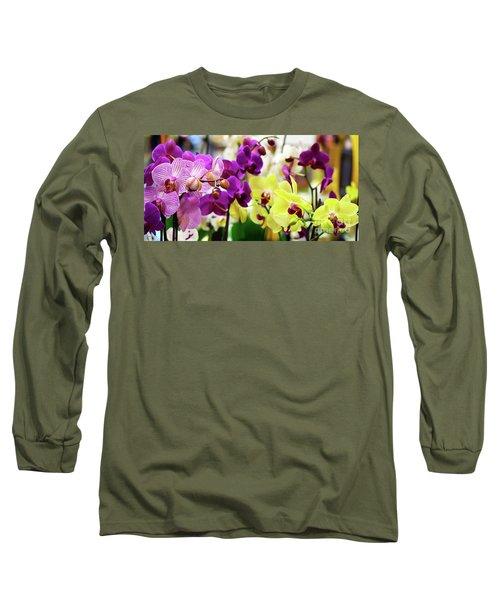 Decorative Orchids Still Life B82418 Long Sleeve T-Shirt