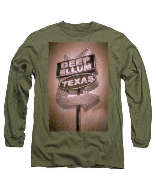 Deep Ellum Pink Long Sleeve T-Shirt