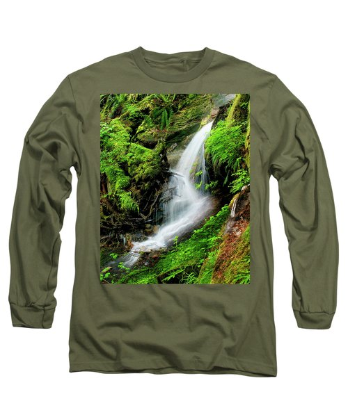 Deep Forest Falls Long Sleeve T-Shirt