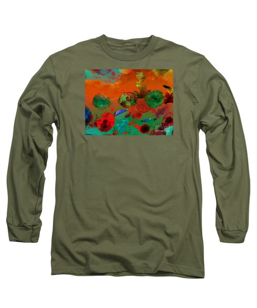 Deep In The Sea Long Sleeve T-Shirt by Haleh Mahbod
