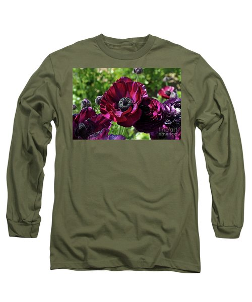 Deep Ranunculus Long Sleeve T-Shirt