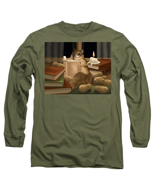 Long Sleeve T-Shirt featuring the painting Deep Study by Veronica Minozzi