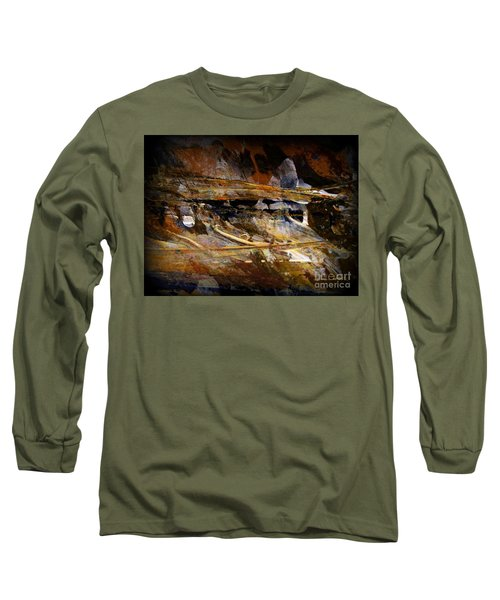 Long Sleeve T-Shirt featuring the painting Deep Time by Nancy Kane Chapman