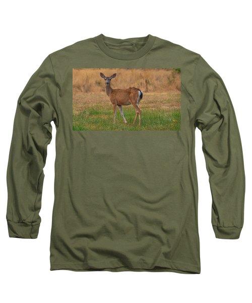 Deer At Sunset Long Sleeve T-Shirt