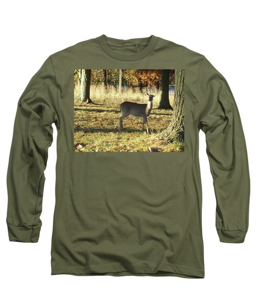 Deer At Valley Forge Long Sleeve T-Shirt