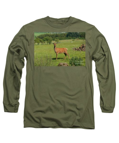 Deer Calf. Long Sleeve T-Shirt