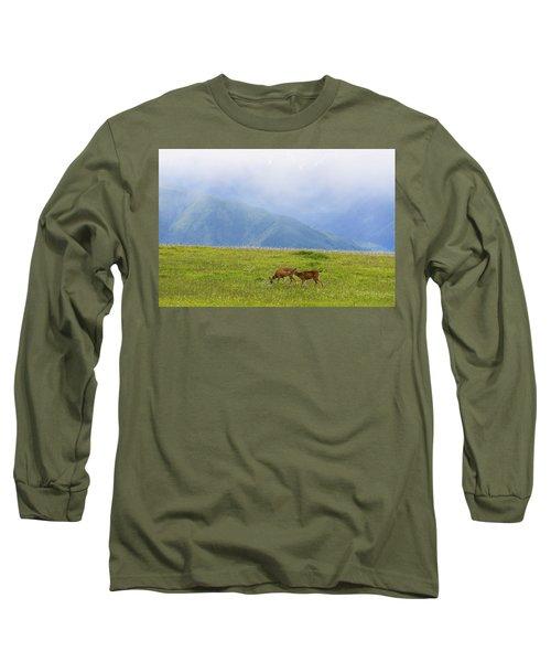 Deer In Browse Long Sleeve T-Shirt