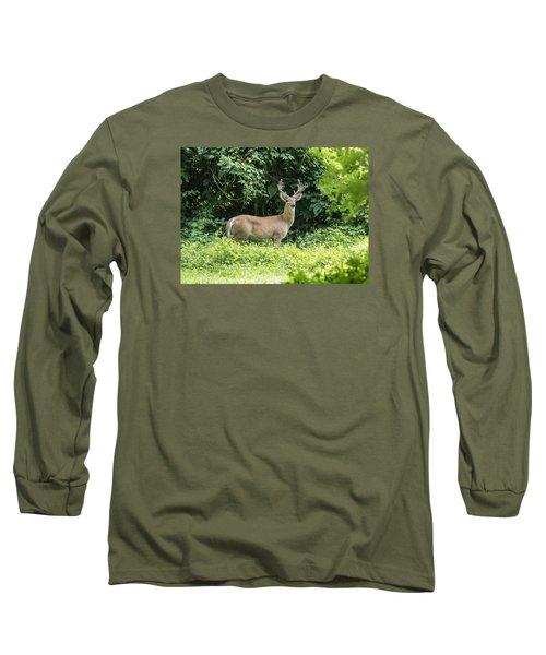 Eastern White Tail Deer Long Sleeve T-Shirt