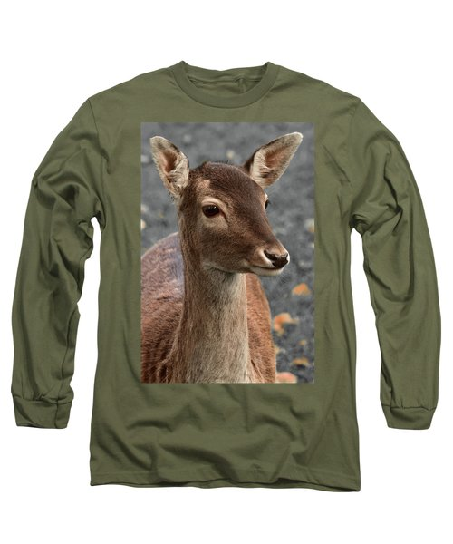 Deer Portrait Long Sleeve T-Shirt