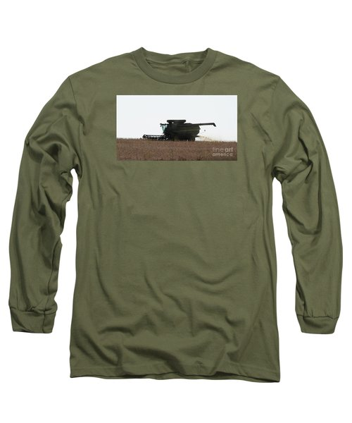 Long Sleeve T-Shirt featuring the photograph Deere Harvesting by J L Zarek
