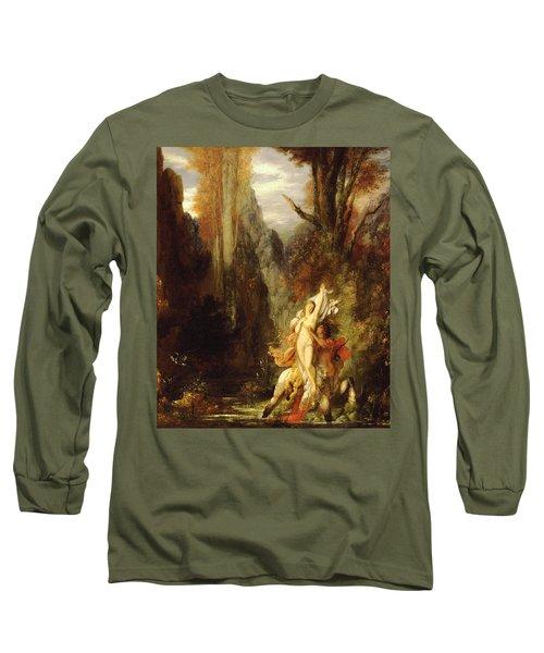 Dejanira  Autumn Long Sleeve T-Shirt by Gustave Moreau