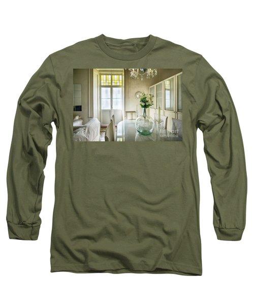 Long Sleeve T-Shirt featuring the photograph Demijohn And Window Color Cadiz Spain by Pablo Avanzini