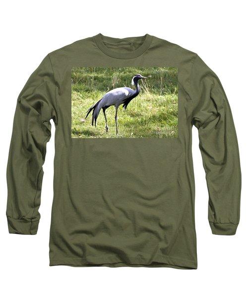 Long Sleeve T-Shirt featuring the photograph Demoiselle Crane by Teresa Zieba