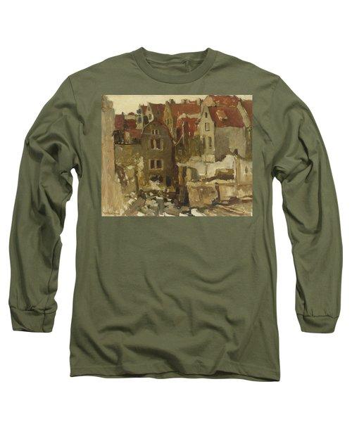 Demolition Of The Grand Bazar De La Bourse In Amsterdam At The Nieuwendijk Long Sleeve T-Shirt