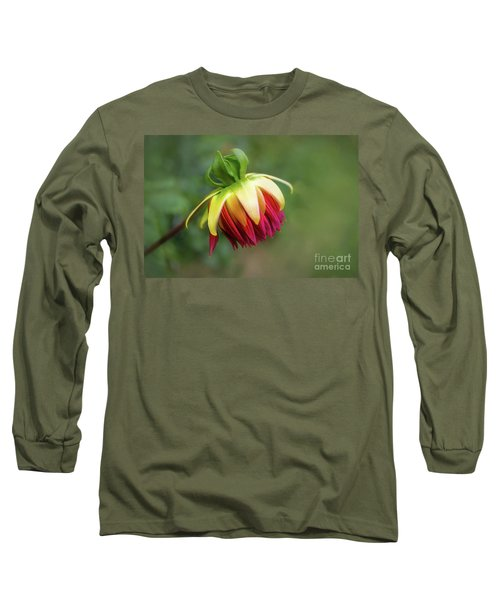 Demure Dahlia Bud Long Sleeve T-Shirt