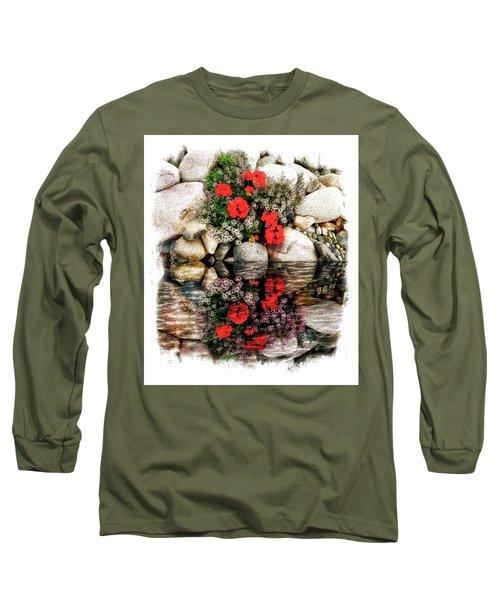 Long Sleeve T-Shirt featuring the photograph Denali National Park Flowers by Joseph Hendrix