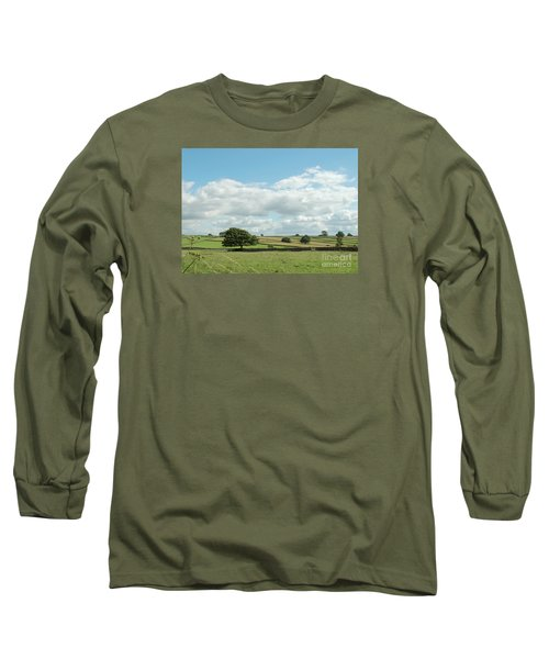 Derbyshire Landscape Long Sleeve T-Shirt by Mini Arora