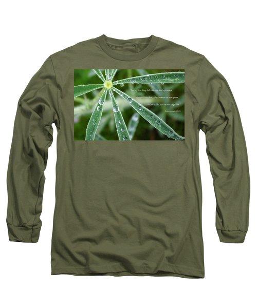 Descending Words Like Dew Long Sleeve T-Shirt